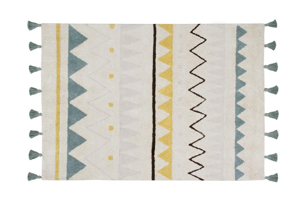 Ковер Lorena Canals Azteca Natural Vintage Blue Grande 140x200 cm