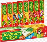 """Набір Чіпси 50г АСОРТІ №2 """"Золотисті чіпси"""" (1/1)"""