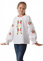 Вышиванка для девочек 100% лен (в размере 134-158), фото 1