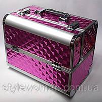 Б'юті алюмінієвий кейс валізу з ключем малина куби об'ємні