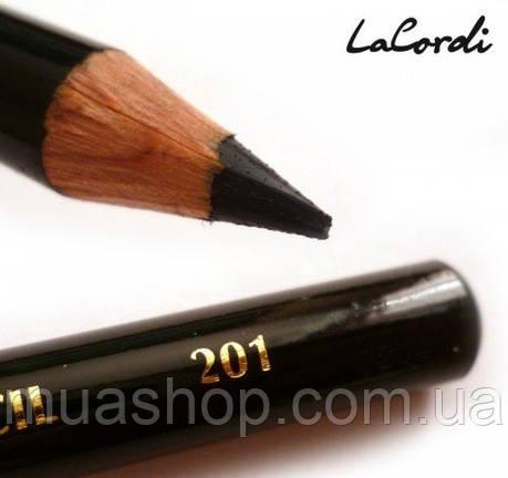 Карандаш для глаз LaCordi №201 Черный, фото 2