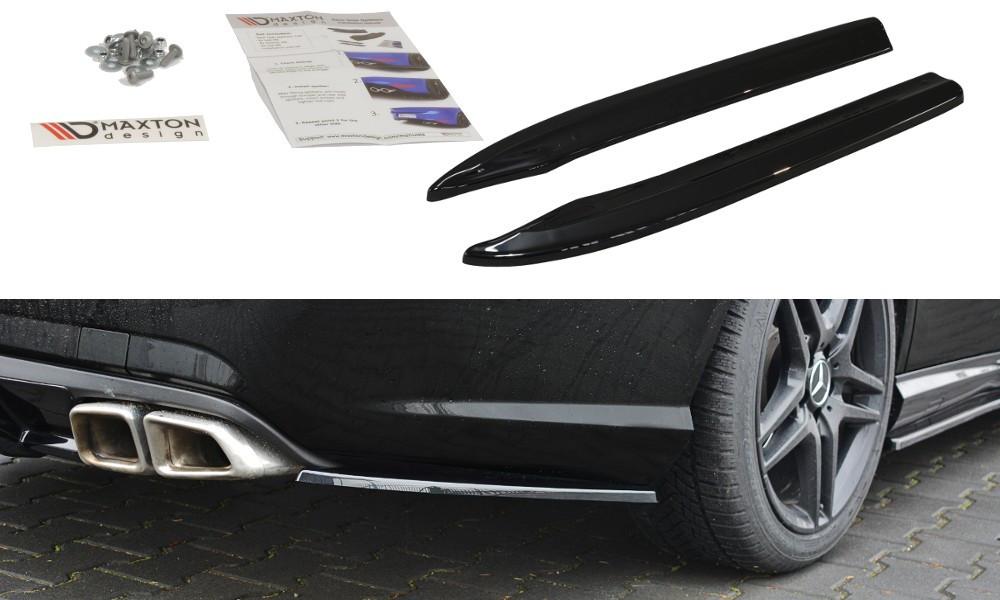 Сплиттер Mercedes W212 E63 AMG тюнинг заднего бампера боковые элероны