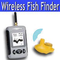 Портативный беспроводный сонар (эхолот, рыболокатор) для поиска рыбы (модель FF-W718)