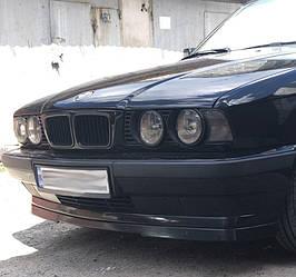 Губа юбка накладка на передний бампер BMW E34 стиль IS (абс пластик)