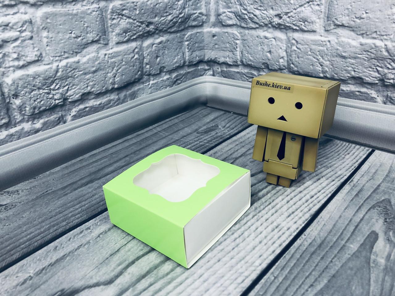 *50 шт* / Коробка для пряников / 80х80х35 мм / печать-Салат / окно-обычн
