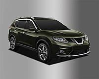 Ветровики хромированные, дефлекторы окон Nissan X-Trail 2014- (Auto clover D647), фото 1