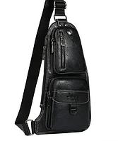 Сумка мужская  черная JEEP 777 BAGS | Джип 777 |  сумка через плечо, черная