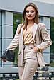 Классический женский костюм 3593 кофе (M-2XL), фото 2