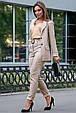 Классический женский костюм 3593 кофе (M-2XL), фото 4