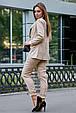 Классический женский костюм 3593 кофе (M-2XL), фото 5