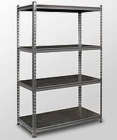 121х81х33, 4 металлических полок 250 кг на полку Стеллаж Unirade оцинкованный полочный для дома в офис склад