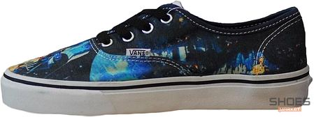 Мужские кеды Vans AUTHENTIC Blue Space, Ванс Аутентик, фото 2