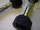 Гантели неразборные 2 шт по 2 кг, фото 6