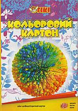 Картон А4 кольоровий 12 аркушів TIKI 50901