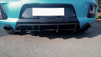 Диффузор заднего бампера юбка сплиттер тюнинг KIA Ceed GT MK2