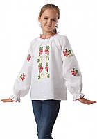 Льняная вышиванка для девочек (в размере 98 - 128)
