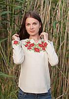 Молодежная женская блуза-вышивка