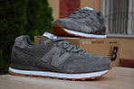 Мужские кроссовки New Balance 574, темно-серые, замша, фото 6