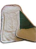 """Конверт зимний """"Baby"""" в коляску (санки) 4 в 1. Зеленый аппликация, фото 3"""