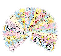 100x Пластырь медицинский детский лейкопластырь с рисунками 7.2х1.9см