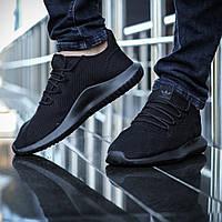 Кроссовки Adidas Tubular Shadow Knit мужские, черные, в стиле Адидас Тубулар Шадоу, текстиль код DK-1129