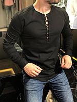 Рубашка мужская без воротника Турция черная. Качество. Живое фото
