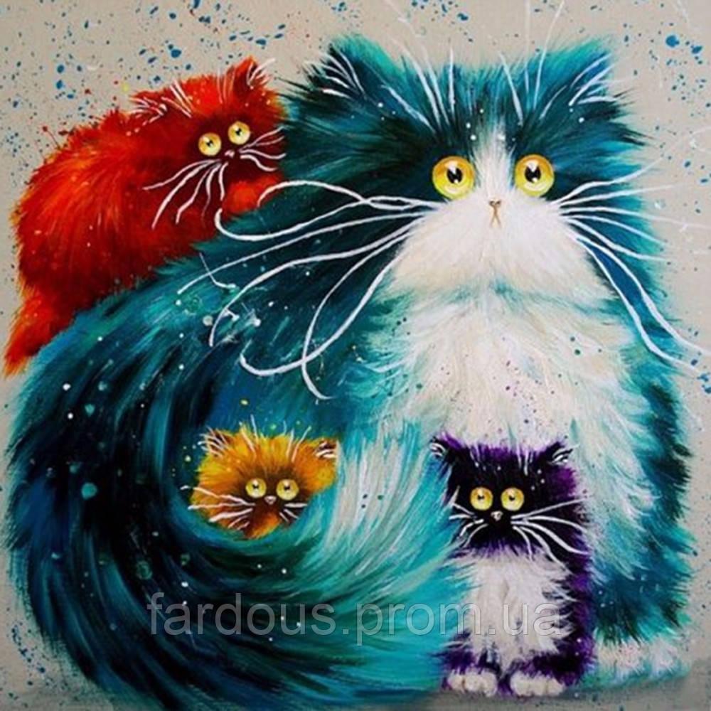 Прикольные коты в рисованных картинках, спасибо поздравления