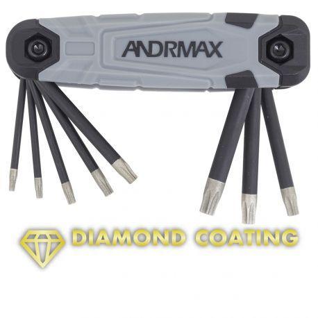 Набор ключей Torx с алмазным напылением, 8 предметов ANDRMAX