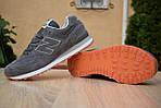 Мужские кроссовки New Balance 574, серо-коричневые, замша, фото 7
