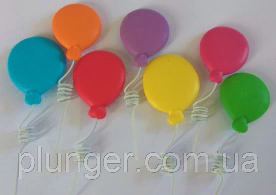 Цукрова прикраса для торта Різнокольорові повітряні кульки