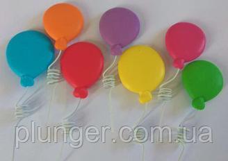 """Сахарное украшение для торта """"Разноцветные воздушные шарики"""""""