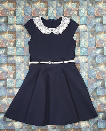 Платье ПОДРОСТКОВОЕ  для девочки Зоряна клеш 140-152 ТЕМНО-СИНИЙ, фото 2