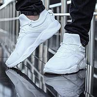 Кроссовки Nike Huarache мужские, белые, в стиле Найк Хуарачи, текстиль, код DK-1130