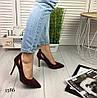 Туфли лодочки женские бордо эко замша#В НАЛИЧИИ ТОЛЬКО 35 37р, фото 2