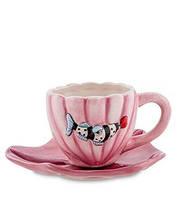 """Порцеляновий чайна пара """"Рибка Blueberry"""" (Pavone) BS - 69, фото 1"""