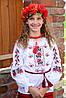 Українська сорочка вишиванка для дівчинки на рубашечной ткани