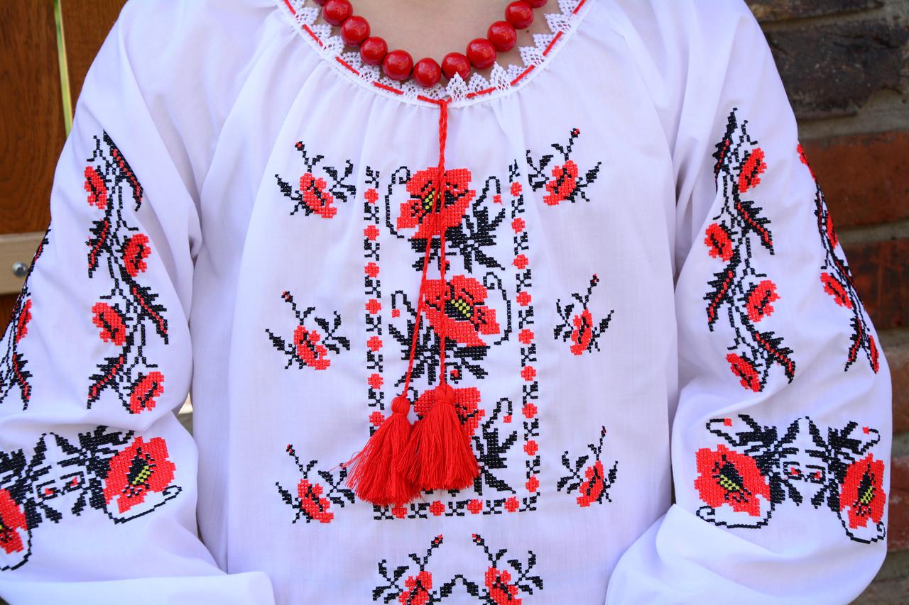 21edc60ec1a635 ... Українська сорочка вишиванка для дівчинки на рубашечной ткани, фото 4
