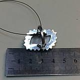 Сколецит кольцо с натуральным сколецитом в серебре размер 19 Индия, фото 6