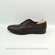 Чоловічі туфлі Max Mayar чорного кольору з коричневим віддінком (Україна)