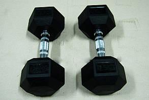 Гантели неразборные 2 шт по 15 кг