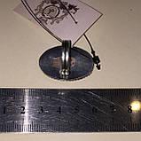 Сколецит кольцо круглое с натуральным сколецитом в серебре размер 18 Индия, фото 6