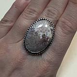 Сколецит кольцо круглое с натуральным сколецитом в серебре размер 18 Индия, фото 3
