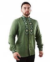 Вышитая мужская рубашка (в размере М - 3XL), фото 1