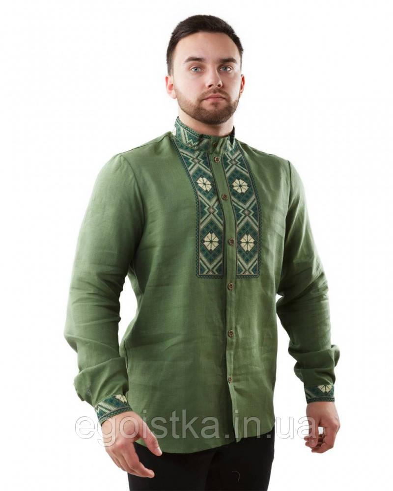 Роскошная вышитая мужская рубашка, фото 1
