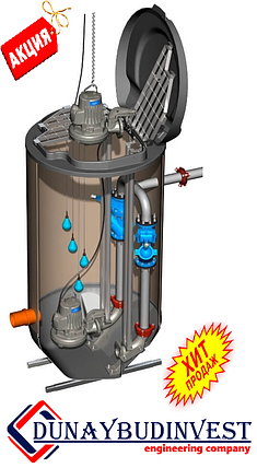 КНС из полиэтилена (погружные насосы)  150-200 м3, фото 2