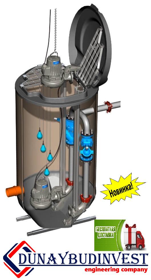 КНС из полиэтилена (погружные насосы) 500-1000 м3/ч