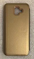 """Чехол книжка """"CLEAR VIEW ..."""" для Samsung Galaxy J4 Plus (J415) / J4 Prime gold, фото 3"""