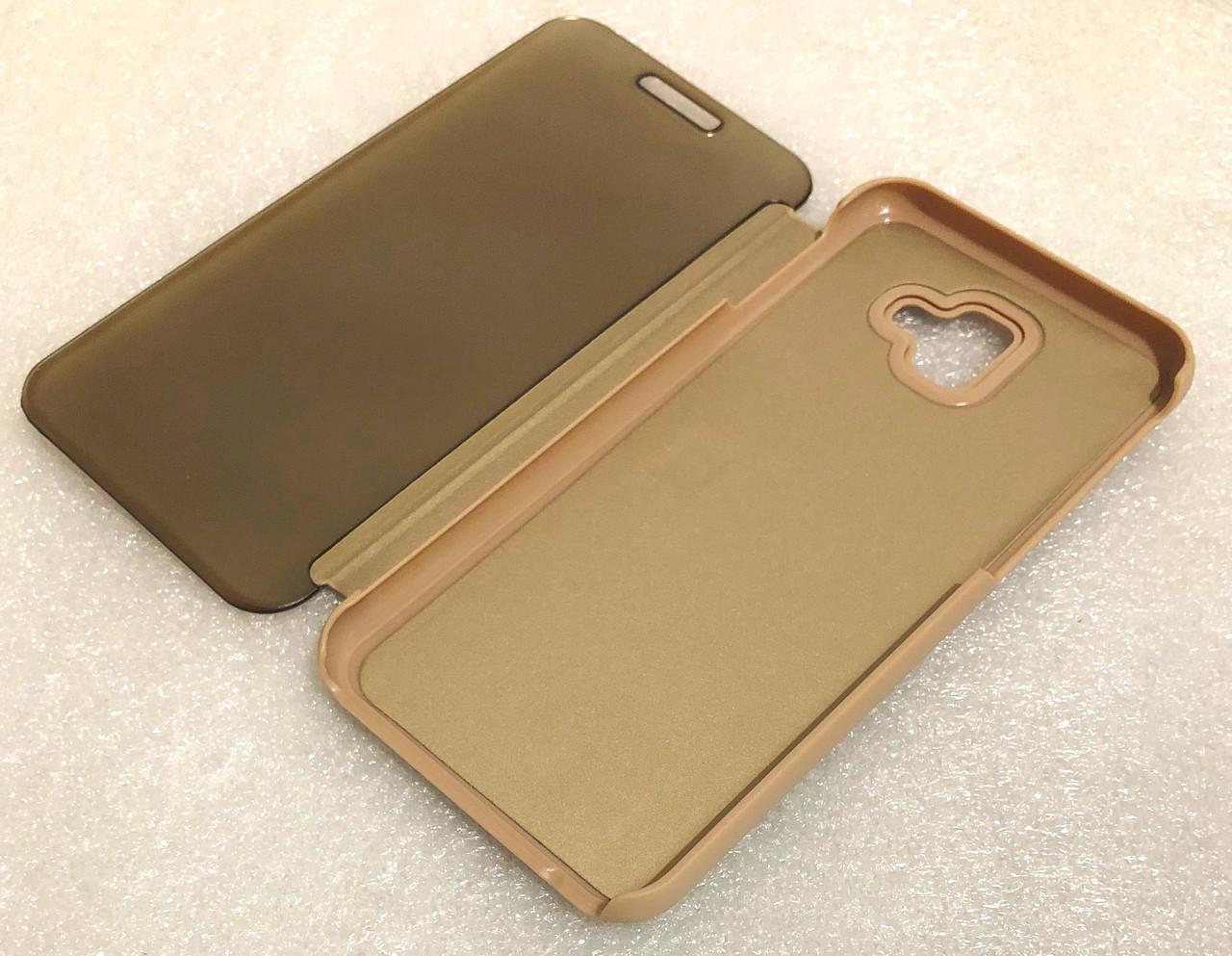 """Чохол книжка """"CLEAR VIEW..."""" для Samsung Galaxy J4 Plus (J415) / J4 Prime gold"""