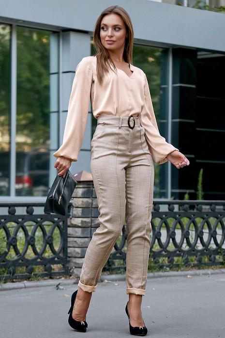 Стильная женская блуза 3591 кофе (M-2XL)