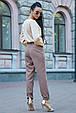 Стильная женская блуза 3591 кофе (M-2XL), фото 4